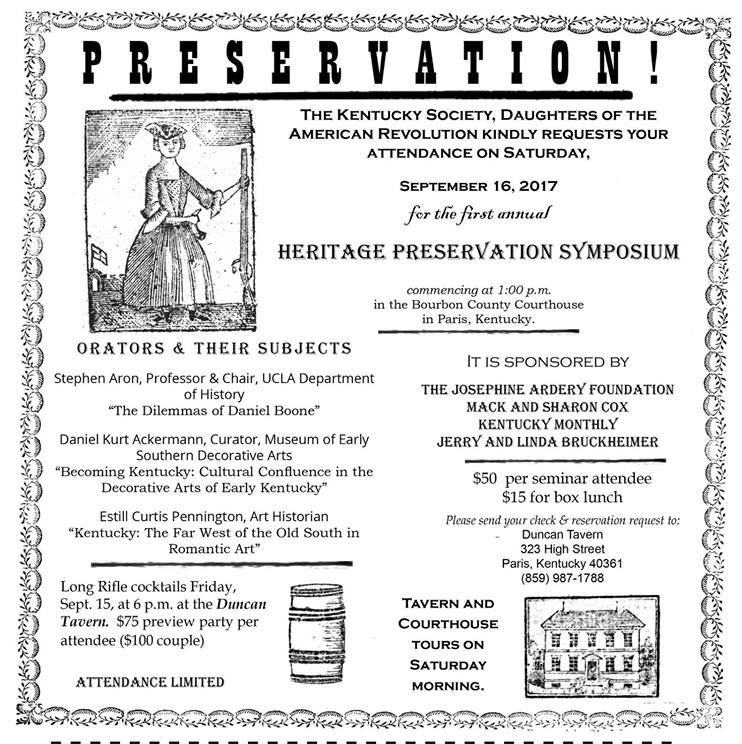 Heritage Preservation Symposium Broadside 2017